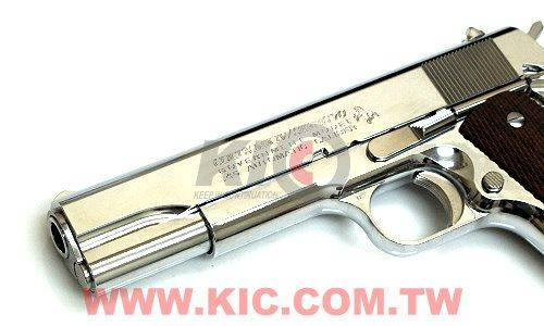 MARUI Colt Government MarkIV Series\'70 Nickel Finish 瓦斯手槍