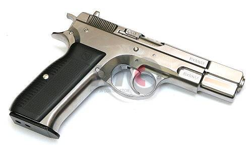 Marushin CZ75 6mmBB BLOWBACK DUAL MAXI Cartridge Type GBB Pistol (Silver ABS)