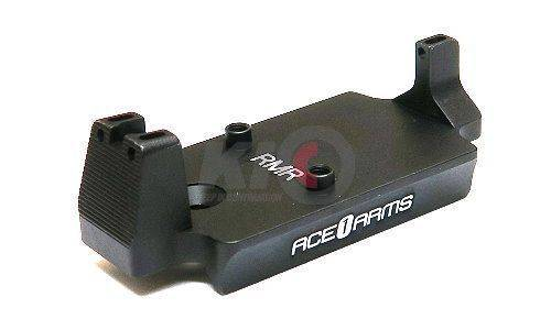 Ace 1 Arms Fiber Back Up Sight Base for Marui / WE 1911 Series Gas BlowBack Pistol