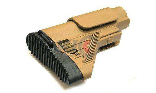 VFC HK G28 Fully Adjustable Stock for Umarex / VFC G28 - TAN