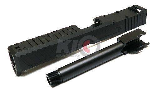 Ready Fighter Jagerwerks Downrange Slide Set For Marui G17 GBBP ( Black )