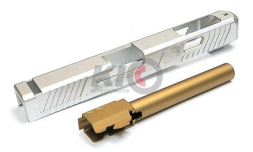 PRO-ARMS TTI-Style G34 Aluminum Slide Set for TM G17 / G22 / G34 - Silver