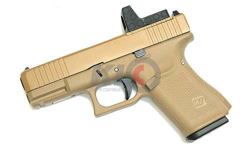 WE Model 19 GBB Pistol (Gen5 Tan Frame / Tan MOS Slide)