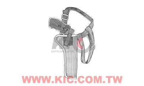 East.A Shoulder Holster for Revolver (6 to 8 Inch) - No.184 - BK