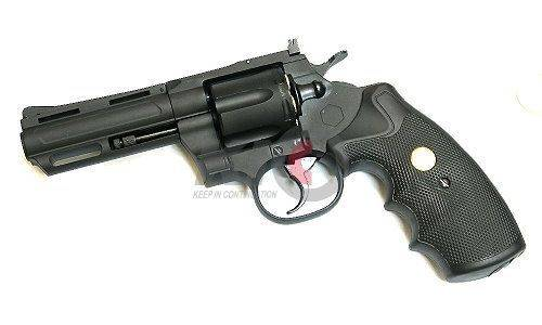 King Arms Revolver 4 Inch CO2 動力槍 - Black