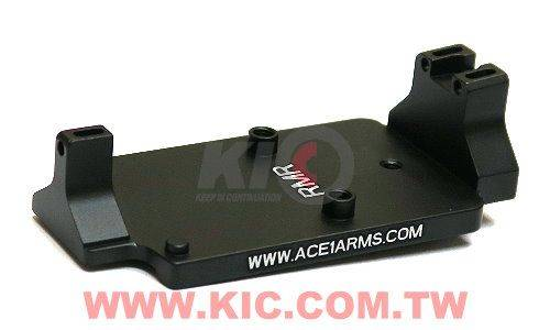 ACE 1 ARMS Fiber Back Up Sight Base for Marui / WE / KJ G-Series Gas BlowBack Pistol