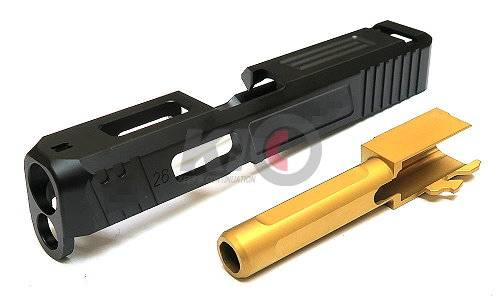 GunsModify S-Style G26 Slide w/ Stainless Golden Barrel Set for Marui G26