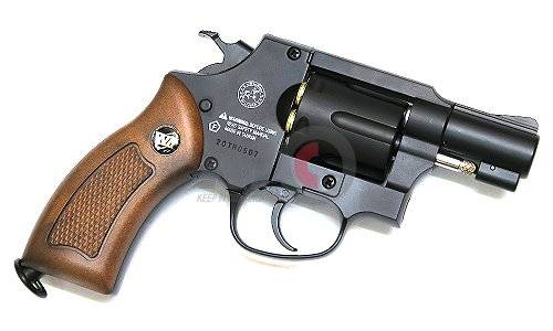 WG 733B CO2 Powered Revolver (2 inch Compact Type / Black)
