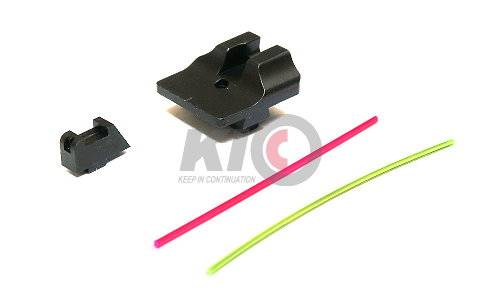 GunsModify Warren Style Steel Fiber Sight Set for MARUI / WE G-Series