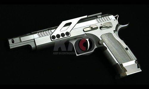 Gunsmith Bros GB-01 Open Gas Blowback Pistol - Silver