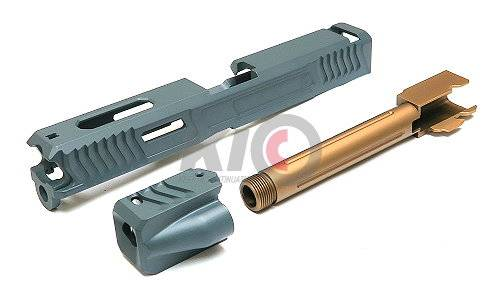 SAT Steel CNC LoK Tactical Slide Set for TM G17 - Grey