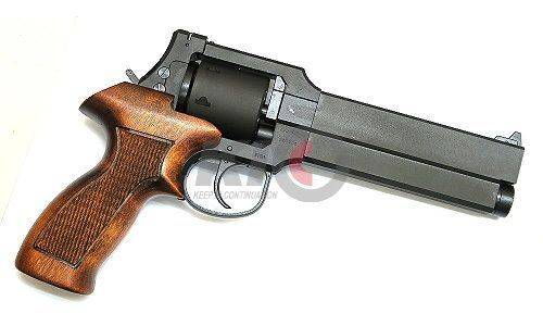 Marushin MATEBA REVOLVER 6mmBB - X Cartridge Series - Black HW ( Wood Grip Type )