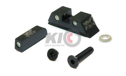PRO-ARMS Tritium Steel Sight Set for Umarex / VFC G19X / G19 Gen.4 / G17 Gen5